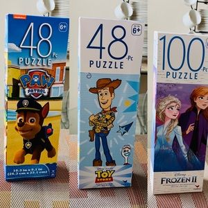 3 sets Licensed Character Puzzles for Kids